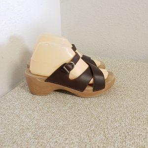 Dansko Sela Dark Brown Leather Sandals